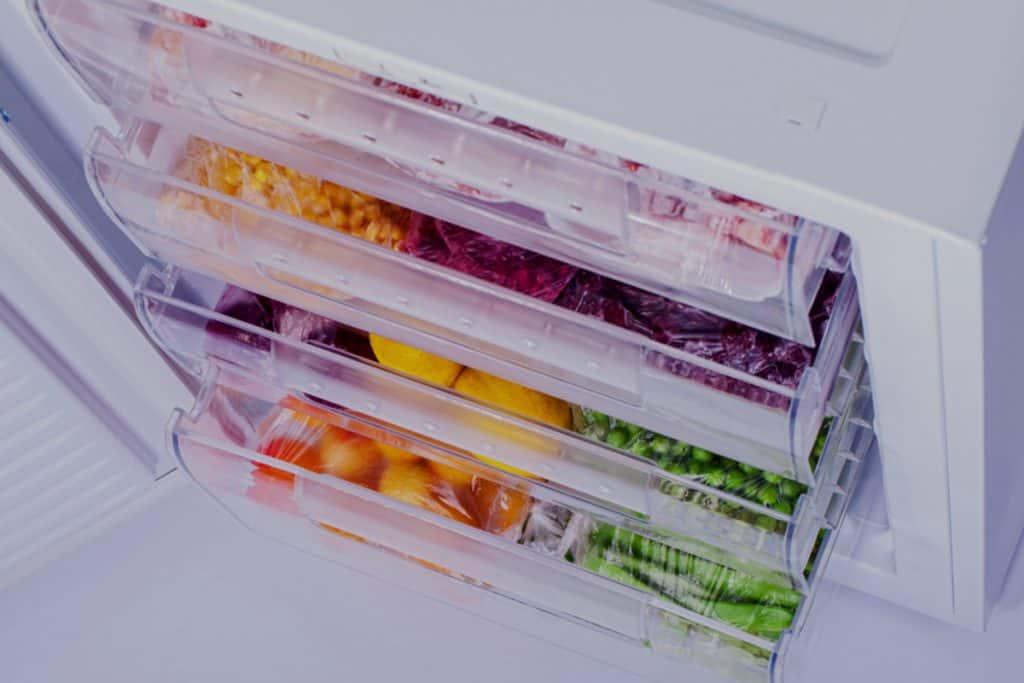 Productos en el congelador